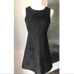 French Connection floral embossed dress